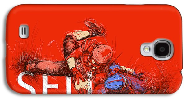 Vancouver Canucks Paintings Galaxy S4 Cases - SFU Art Galaxy S4 Case by Catf