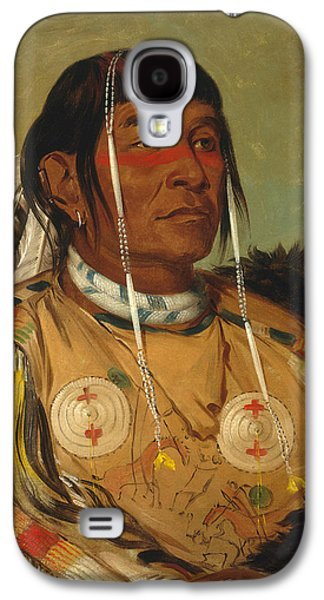 Sha Galaxy S4 Cases - Sha-co-pay. The Six. Chief of the Plains Ojibwa Galaxy S4 Case by George Catlin