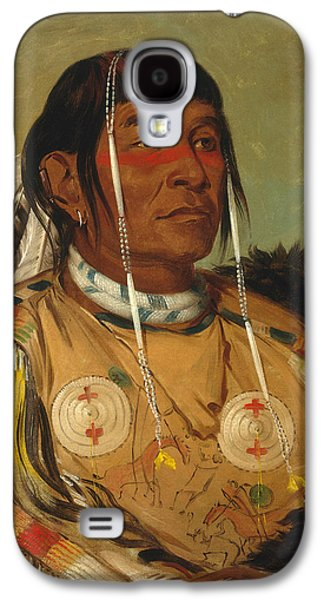 Sha-co-pay. The Six. Chief Of The Plains Ojibwa Galaxy S4 Case by George Catlin