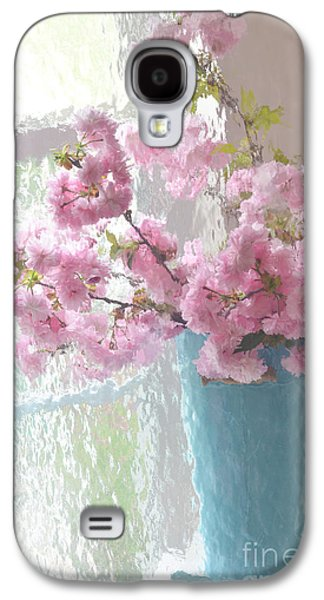 Cherry Blossoms Galaxy S4 Cases - Shabby Chic Cottage Pink Blossoms - Impressionistic Shabby Chic Dreamy Pink Blossoms Floral Fine Art Galaxy S4 Case by Kathy Fornal