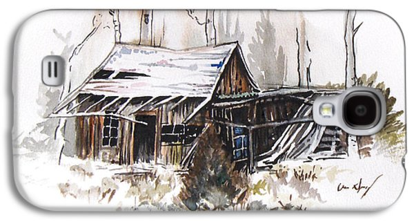Old Barn Drawing Drawings Galaxy S4 Cases - Shack Galaxy S4 Case by Aaron Spong