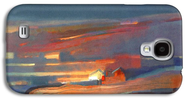 Abstract Landscape Galaxy S4 Cases - Shacks Oil On Canvas Galaxy S4 Case by Charlie Baird