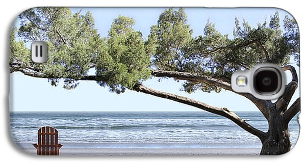 Chair Galaxy S4 Cases - Shade Tree Panoramic Galaxy S4 Case by Mike McGlothlen