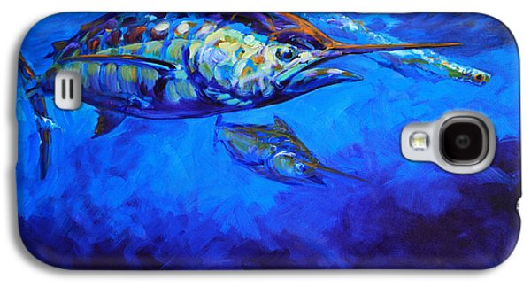 Marlin Galaxy S4 Cases - Shades of Blue Galaxy S4 Case by Savlen Art