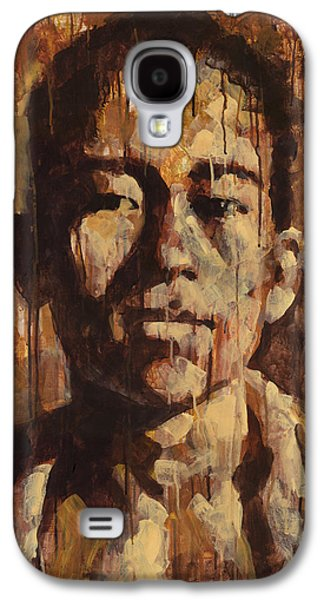 Drips Paintings Galaxy S4 Cases - Shades of Khanh Galaxy S4 Case by Douglas Simonson