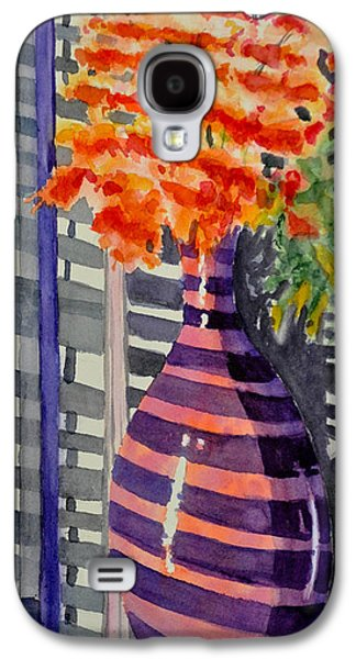 """""""indoor"""" Still Life Paintings Galaxy S4 Cases - Shadow Light Galaxy S4 Case by Mary Fran  Anderson"""