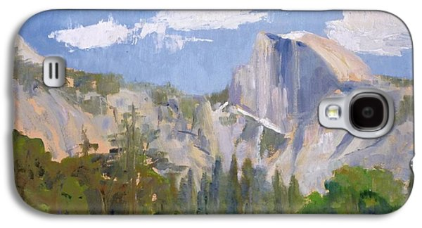 Half Dome Paintings Galaxy S4 Cases - Shadow Over Half Dome Galaxy S4 Case by Sharon Weaver