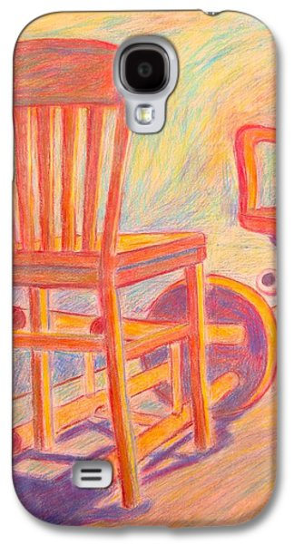 Chair Pastels Galaxy S4 Cases - Shadow Play Galaxy S4 Case by Kendall Kessler