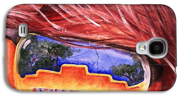 4th July Paintings Galaxy S4 Cases - Shady Fairgrounds Galaxy S4 Case by Claudette McDermott