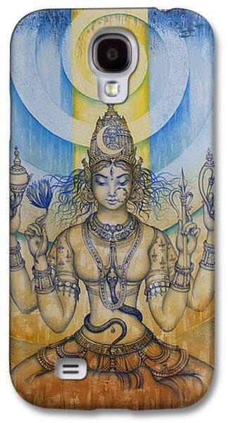 Goddess Paintings Galaxy S4 Cases - Shakti - Tripura Sundari Galaxy S4 Case by Vrindavan Das