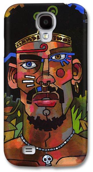 Mystic Paintings Galaxy S4 Cases - Shaman Galaxy S4 Case by Douglas Simonson