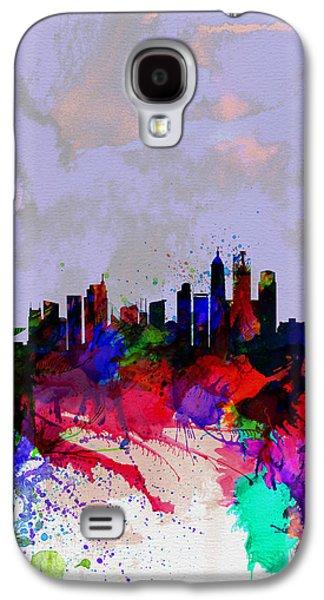 Downtown Digital Galaxy S4 Cases - Shanghai Watercolor Skyline Galaxy S4 Case by Naxart Studio