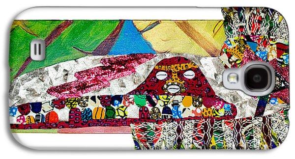 Religious Tapestries - Textiles Galaxy S4 Cases - Shango Firebird Galaxy S4 Case by Apanaki Temitayo M