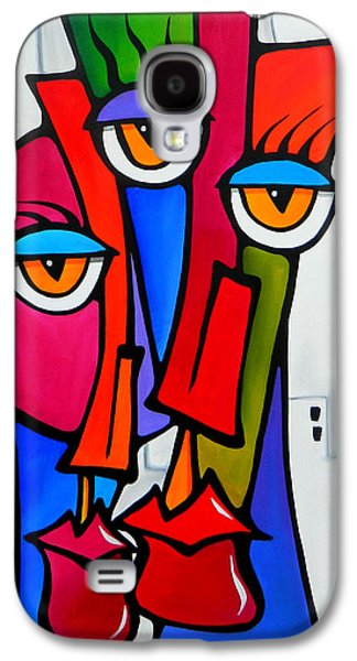 Contemporary Abstract Drawings Galaxy S4 Cases - Shared by Fidostudio Galaxy S4 Case by Tom Fedro - Fidostudio