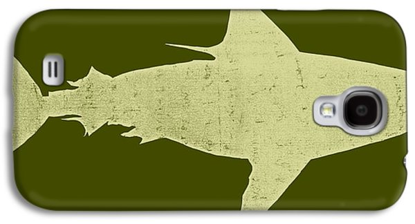 Shark Digital Art Galaxy S4 Cases - Shark Galaxy S4 Case by Michelle Calkins