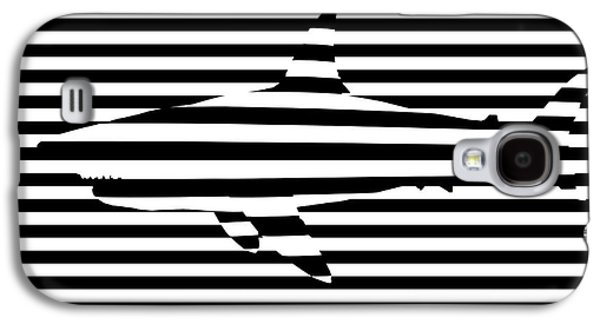 Abstract Digital Galaxy S4 Cases - Shark optical illusion Galaxy S4 Case by Pixel Chimp