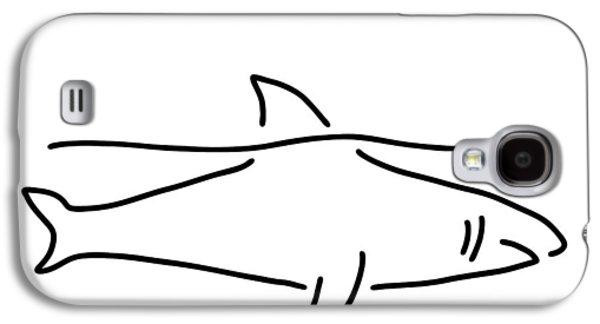 Shark Shark Fish Fin Sea Galaxy S4 Case by Lineamentum