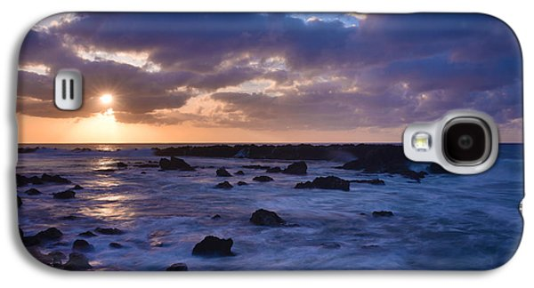 Tidal Photographs Galaxy S4 Cases - Sharks Cove Sunset 1 - Oahu Hawaii Galaxy S4 Case by Brian Harig