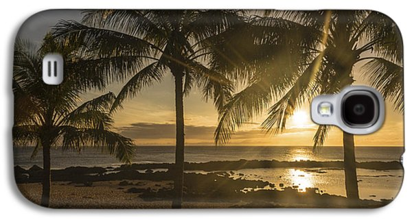 Tidal Photographs Galaxy S4 Cases - Sharks Cove Sunset 3 - Oahu Hawaii Galaxy S4 Case by Brian Harig