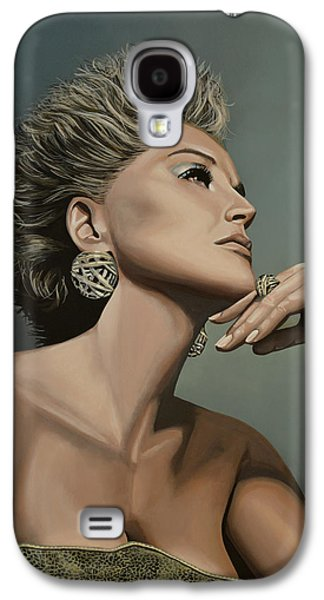 Stones Paintings Galaxy S4 Cases - Sharon Stone Galaxy S4 Case by Paul  Meijering