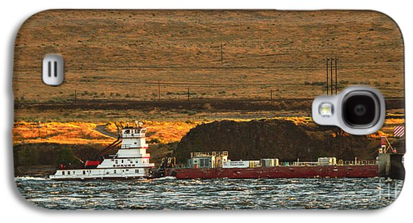 Haybale Galaxy S4 Cases - Shaver Tug On The Columbia River Galaxy S4 Case by Robert Bales