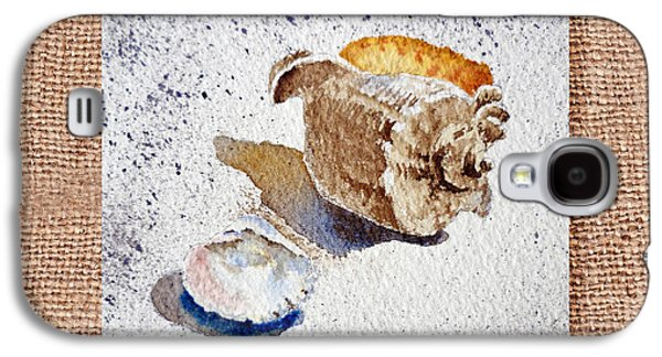 Interior Still Life Paintings Galaxy S4 Cases - She Sells Sea Shells Decorative Collage Galaxy S4 Case by Irina Sztukowski