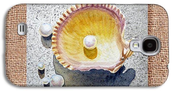Interior Still Life Paintings Galaxy S4 Cases - She Sells Seashells Decorative Collage Galaxy S4 Case by Irina Sztukowski