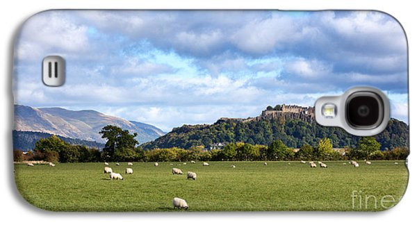 Stone Buildings Galaxy S4 Cases - Sheep and Stirling Castle Galaxy S4 Case by Jane Rix