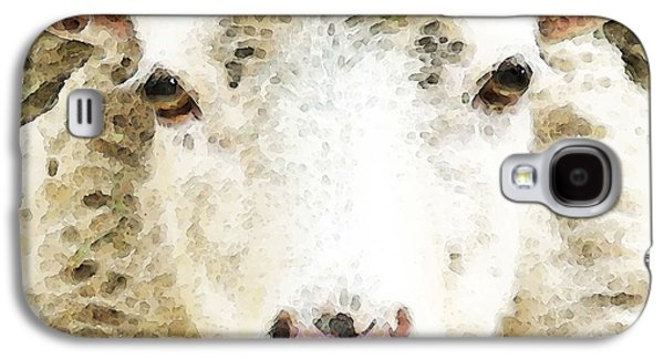 Buy Digital Galaxy S4 Cases - Sheep Art - White Sheep Galaxy S4 Case by Sharon Cummings