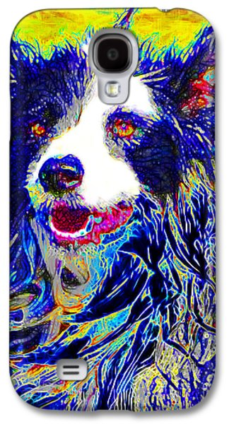 Puppy Digital Art Galaxy S4 Cases - Sheep Dog 20130125v1 Galaxy S4 Case by Wingsdomain Art and Photography