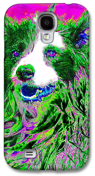 Puppy Digital Art Galaxy S4 Cases - Sheep Dog 20130125v2 Galaxy S4 Case by Wingsdomain Art and Photography