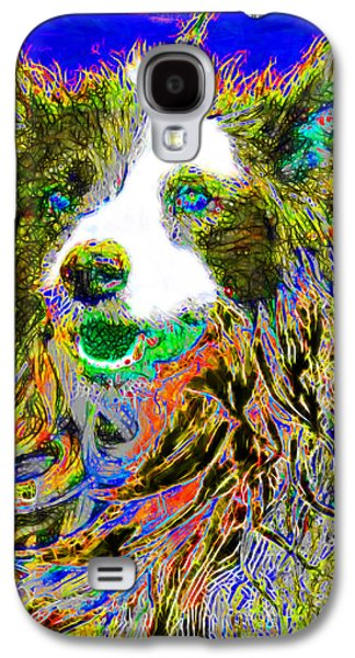 Puppy Digital Art Galaxy S4 Cases - Sheep Dog 20130125v3 Galaxy S4 Case by Wingsdomain Art and Photography