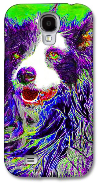 Puppy Digital Art Galaxy S4 Cases - Sheep Dog 20130125v4 Galaxy S4 Case by Wingsdomain Art and Photography