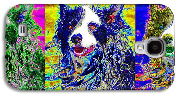 Puppy Digital Art Galaxy S4 Cases - Sheep Dog Three 20130125 Galaxy S4 Case by Wingsdomain Art and Photography