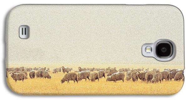 Snowy Day Galaxy S4 Cases - Sheep in Snow Galaxy S4 Case by Kae Cheatham