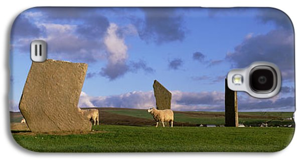 Megalith Galaxy S4 Cases - Sheep, Stones Of Stenness, Orkney Galaxy S4 Case by Panoramic Images