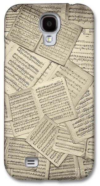 Old Sheet Music Galaxy S4 Cases - Sheet Music Galaxy S4 Case by Tim Gainey