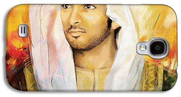 Rulers Galaxy S4 Cases - Sheikh Hamdan Bin Mohammed Galaxy S4 Case by Corporate Art Task Force