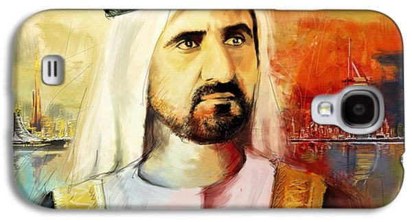 Rulers Galaxy S4 Cases - Sheikh Mohammed bin Rashid Al Maktoum Galaxy S4 Case by Corporate Art Task Force