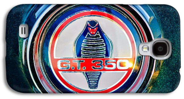 Transportation Photographs Galaxy S4 Cases - Shelby Cobra GT 350 Emblem -0639c Galaxy S4 Case by Jill Reger