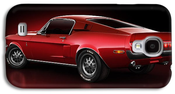 Stylish Galaxy S4 Cases - Shelby GT500 - Redline Galaxy S4 Case by Marc Orphanos