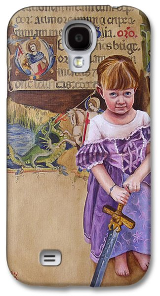 Knights Castle Paintings Galaxy S4 Cases - Shell Slay Her Own Dragons Galaxy S4 Case by Kirsten Beitler