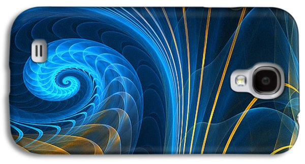 Blue Abstracts Digital Galaxy S4 Cases - Shells Fragility Galaxy S4 Case by Lourry Legarde