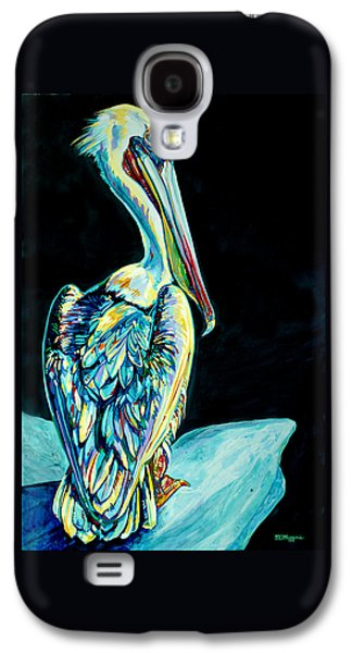 Cambridge Paintings Galaxy S4 Cases - Shelter Island Pelican Galaxy S4 Case by Derrick Higgins
