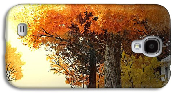 Horse And Buggy Paintings Galaxy S4 Cases - Shenandoah Autumn Galaxy S4 Case by Joan Shaver