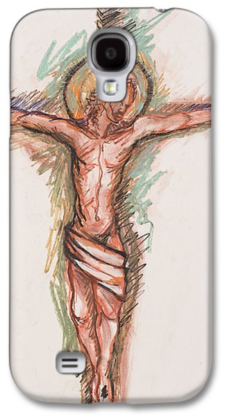 Crucifixtion Galaxy S4 Cases - Shepherd Galaxy S4 Case by Deryl Daniel Mackie