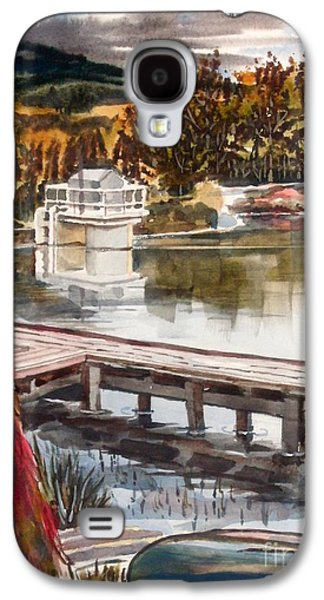 Canoe Mixed Media Galaxy S4 Cases - Shepherd Mountain Lake in Twilight Galaxy S4 Case by Kip DeVore