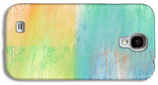 Abstract Digital Galaxy S4 Cases - Sherbet Abstract Galaxy S4 Case by Andee Design