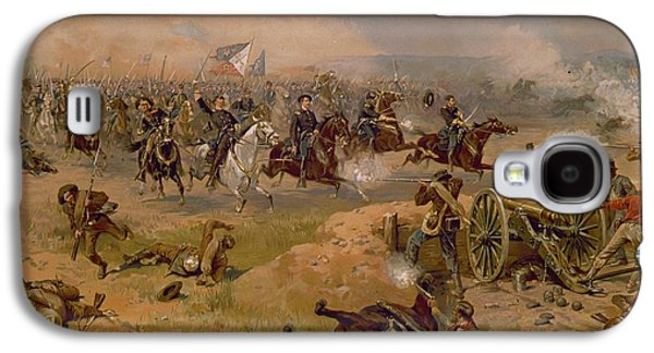 Past Paintings Galaxy S4 Cases - Sheridans Final Charge at Winchester Galaxy S4 Case by American School