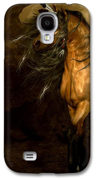 Horse Digital Galaxy S4 Cases - Shikoba Choctaw Horse Galaxy S4 Case by Shanina Conway